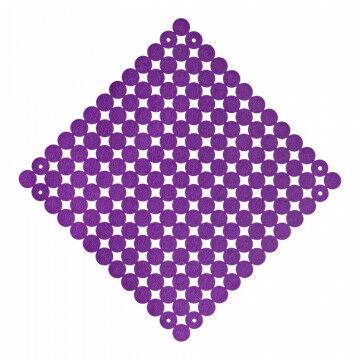 Paneel vilt koppelbaar, paars textiel, 38 x 38 cm