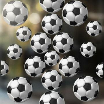 Raamstickers 'Voetbal' zonder luchtbellen aan te brengen, herbruikbaar, multi kunststof