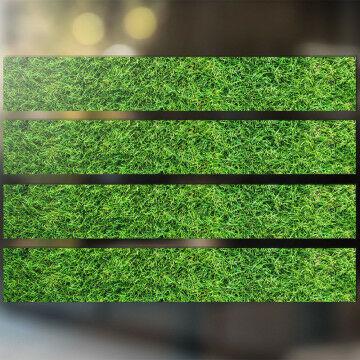 raamstickers 'gras' 4 identieke stroken, groen kunststof, 98 x 15 cm