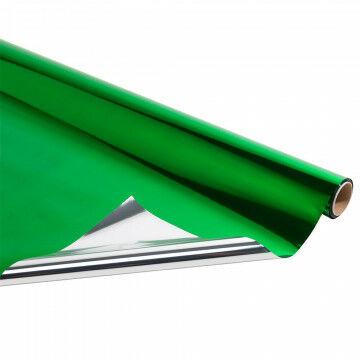 metallic folie rol van 10 meter, groen kunststof, 100 cm