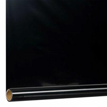 metallic folie rol van 10 meter, zwart kunststof, 100 cm
