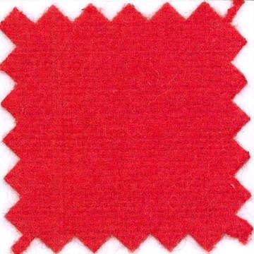 Vlamwerend flanel 100% katoen, kleurcode 3300, rood textiel, 130 cm