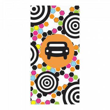 Banier 'Streetstyle' incl.banierstokken en koord, multi textiel, 100 x 200 cm