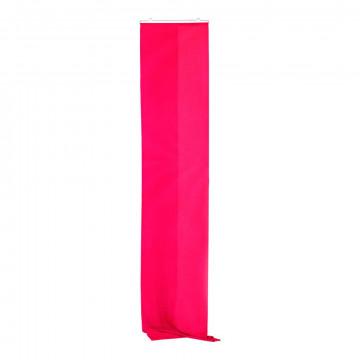 Banier Uni inclusief ophangset, roze textiel, 60 x 300 cm