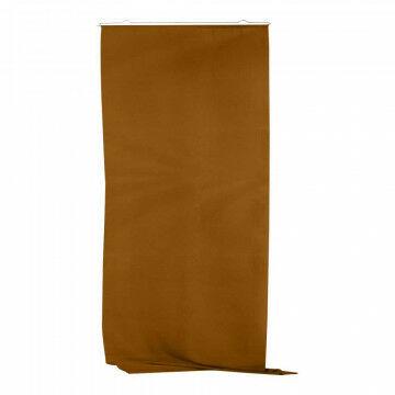 Banier 'Uni' breed inclusief ophangset, bruin textiel, 150 x 200 cm