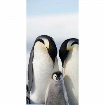 banier pinguïn inclusief stokken en koord, multicolor textiel, 100 x 200 cm