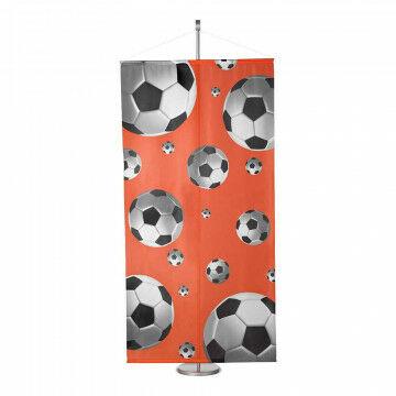 banier 3d voetbal inclusief stokken en koord, multicolor textiel, 100 x 200 cm
