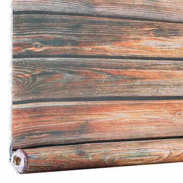 Stof planken gelakt foto print, bruin textiel, 150 cm