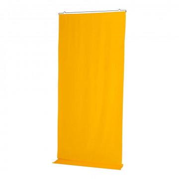 Banier 'Uni' inclusief ophangset, geel textiel, 100 x 250 cm