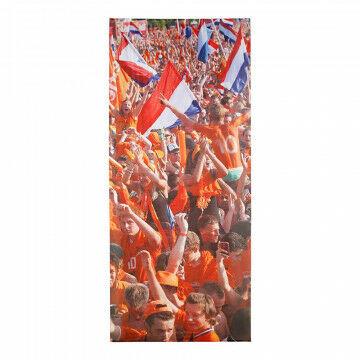 banier supporters, oranje textiel, 150 x 350 cm