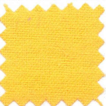 Vlamwerend flanel 100% katoen, kleurcode 1600, geel textiel, 130 cm