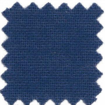 Vlamwerend flanel 100% katoen, kleurcode 5500, blauw textiel, 130 cm