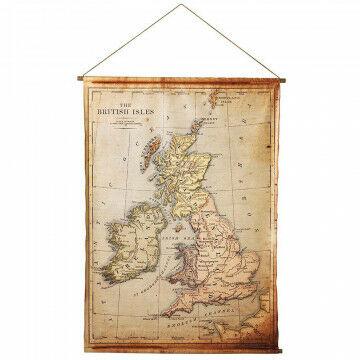Banier 'Groot-Brittannië' met houten stokken en ophangkoord, kunststof, 111 x 150 cm