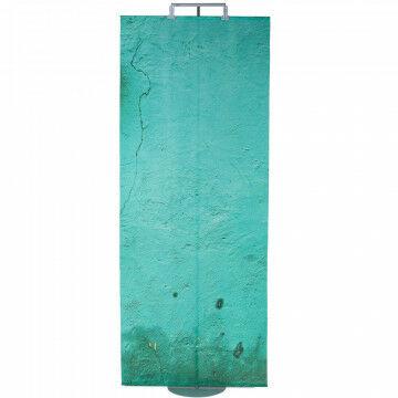 banier blauwgroene pleister muur fotoprint, textiel, 100 x 250 cm