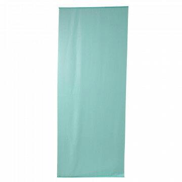 banier uni transp. mintgroen, met alu. stokken en ophangkoord, textiel, 100 x 250 cm