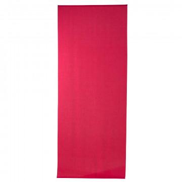 banier uni transparant pink, met alu. stokken en ophangkoord, pink textiel, 100 x 250 cm