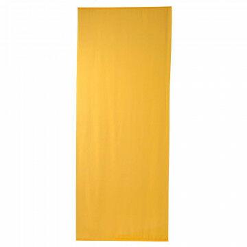 banier uni transparant geel, geel textiel, 100 x 250 cm
