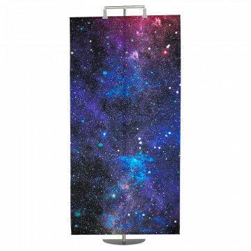 banier universe met aluminium stokken en ophangkoord, multicolor textiel, 100 x 200 cm