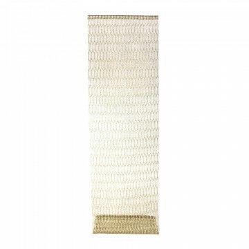 banier honey, opengewerkt textiel met patroon, goud textiel, 70 x 250 cm
