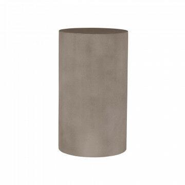 zuil in betonlook, rond, hoge maat, opbouw of vuller, staat stevig door gewicht 2,7 kg, grijs kunststof, 20 x 20 x 34.5 cm