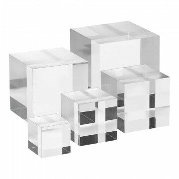 Displaykubusset massief, helder, 7+6+5+4+3cm, transparant kunststof