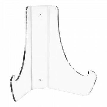 Bordenstandaard ook tegen de wand te gebruiken, transparant kunststof, 25 cm