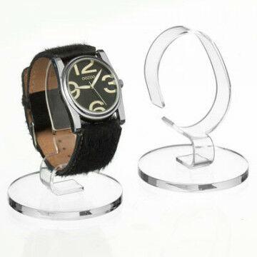 Horlogestandaard, transparant kunststof
