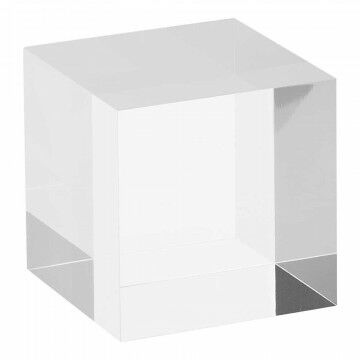 displaykubus massief helder, transparant acrylaat, 6 x 6 x 6 cm