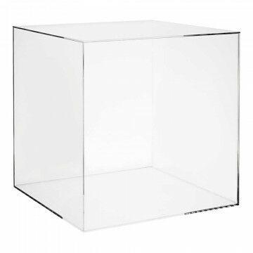 vitrinekubus met deksel, transparant acrylaat, 40 x 40 x 40 cm