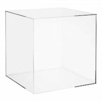 Vitrinekubus met deksel geschikt v/bodemplaat 501-000/510-042, transparant kunststof, 35 x 35 x 35 cm