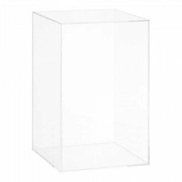 kubusvaas met deksel, transparant acryl, 25 x 25 x 40 cm