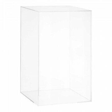 kubusvaas met deksel, transparant acryl, 30 x 30 x 50 cm