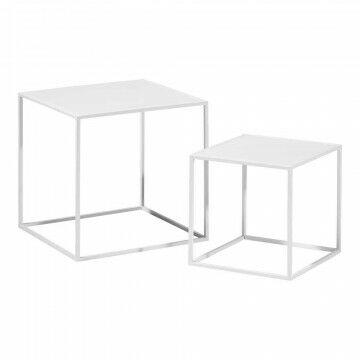 kubussen quadro 40x40x40 en 30x30x30cm, wit metaal