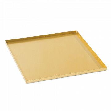 basisplateau geschikt als bodemplaat of deksel, goud metaal, 25 x 25 cm