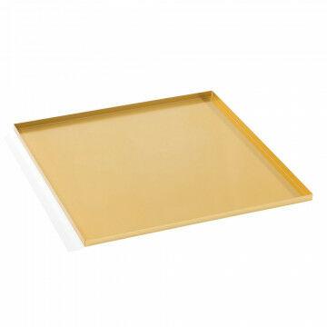 basisplateau geschikt als bodemplaat of deksel, goud metaal, 30 x 30 cm