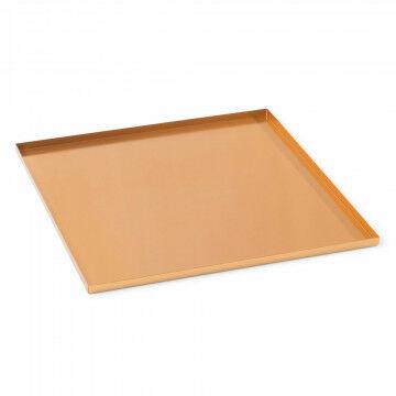 basisplateau geschikt als bodemplaat of deksel, koper metaal, 30 x 30 cm