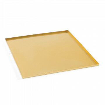 basisplateau geschikt als bodemplaat of deksel, goud metaal, 40 x 40 cm