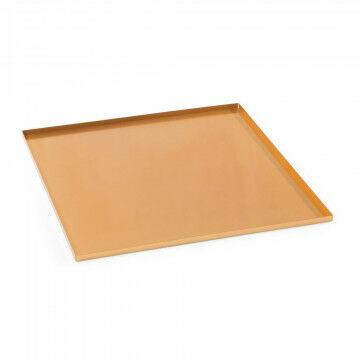 basisplateau geschikt als bodemplaat of deksel, koper metaal, 40 x 40 cm