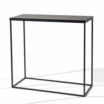 trinity tafel met bovenplaat, zwart metaal, 99 x 41 x 91 cm
