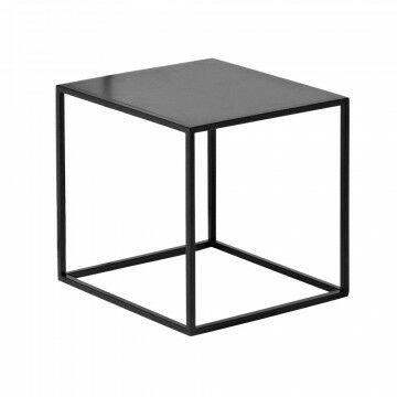 kubus quadro, zwart metaal, 30 x 30 x 30 cm