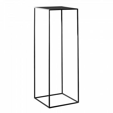 zuil quadro, zwart metaal, 35 x 35 x 105 cm