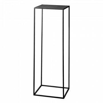 zuil quadro, zwart metaal, 30 x 30 x 90 cm