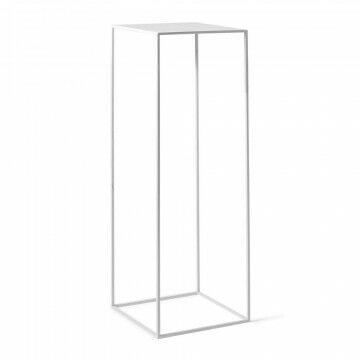 zuil quadro, wit metaal, 35 x 35 x 105 cm