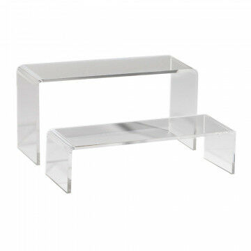 bankjes 2 delig, 5+10cm hoog, transparant acrylaat, 7 x 20 cm