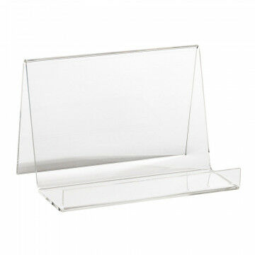 clutch standaard, transparant acrylaat, 15 x 10 x 10 cm