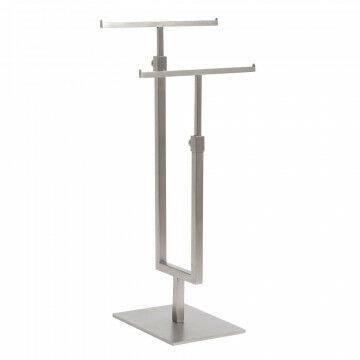 t standaard dubbel geborsteld staal, in hoogte verstelbaar, metaal, 16 x 12 x 69 cm