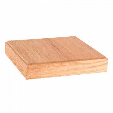 display plateau van solide hout