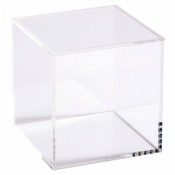 vitrinekubusje met afneembare deksel, transparant acrylaat, 10 x 10 x 10 cm