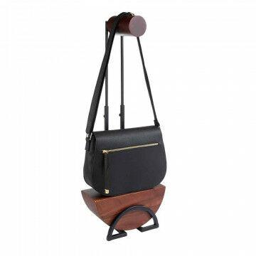 tassen standaard great gatsby in hoogte verstelbaar en handgemaakt, bruin hout, 38 x 15.2 x 52 cm