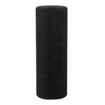 display zuil cilinder, gave ribbel, met een draagkracht tot 25 kg, eenvoudig opbouwen, zwart karton, 90 x 30 cm